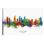 "Gold Coast Australia Skyline // Michael Tompsett (40""W x 26""H x 1.5""D)"
