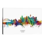 "Sydney Australia Skyline // Michael Tompsett (40""W x 26""H x 1.5""D)"