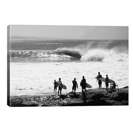 Silhouette Of Surfers Standing On The Beach, Australia // Panoramic Images