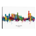 "Melbourne Australia Skyline // Michael Tompsett (40""W x 26""H x 1.5""D)"