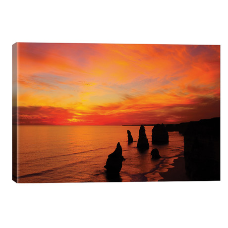 The Twelve Apostles At Sunset I, Port Campbell National Park, Victoria, Australia // David Wall