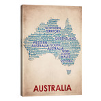 """Australia // American Flat (26""""W x 40""""H x 1.5""""D)"""