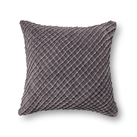 Criss Cross // Charcoal // Pillow (Cover Only)