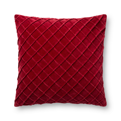 Criss Cross // Red // Pillow (Cover Only)