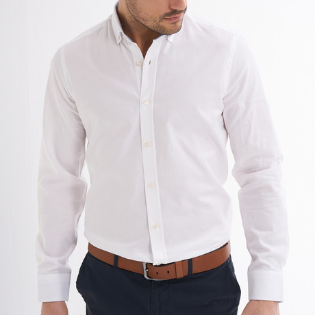 Emilio Button-Up Shirt // White (S)