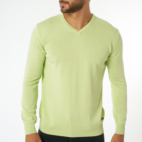 Zolia Sweater // Pistachio Green (S)