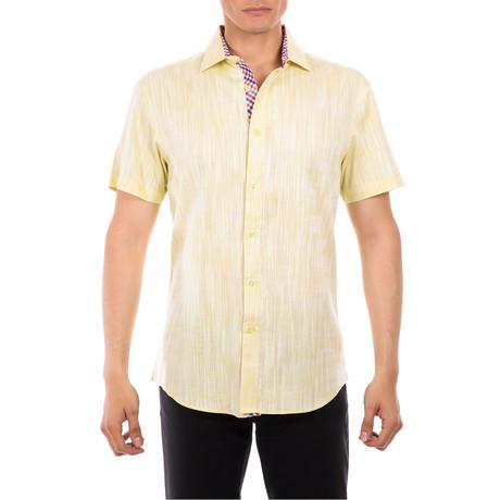 Joseph Short-Sleeve Button-Up Shirt // Yellow (XS)