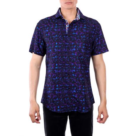 Max Short-Sleeve Button-Up Shirt // Black (XS)
