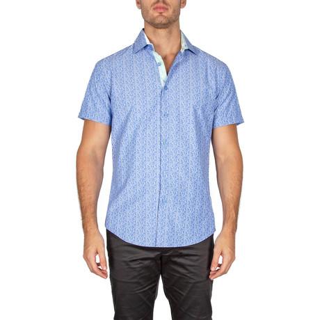 Myles Short-Sleeve Button-Up Shirt // Royal Blue (XS)