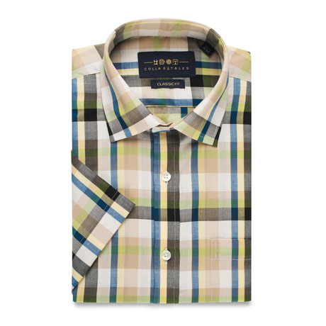 Checkered Button-Up Shirt // Multicolor (L)