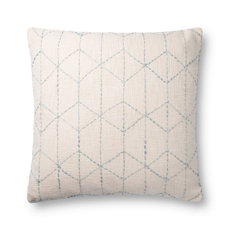 Geometric // Ivory + Light Blue // Pillow (Cover Only)