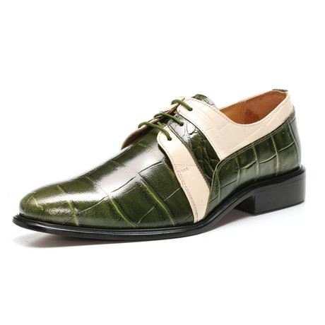 Derby Dress Shoes // Olive Cream (US: 6.5)