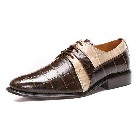 Derby Dress Shoes // Brown Beige (US: 6.5)
