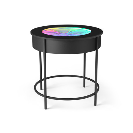Black Metal Side Table // Black Metal Sides