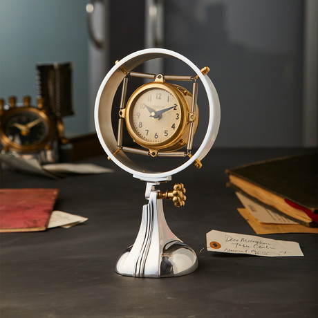 Deco Microphone Table Clock