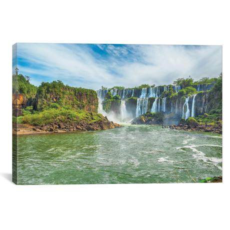 """Iguazu Falls I // Mark Paulda (40""""W x 26""""H x 1.5""""D)"""