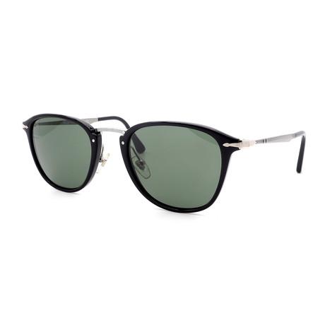 Persol // Men's PO3165S-95-31 Sunglasses // Black + Green