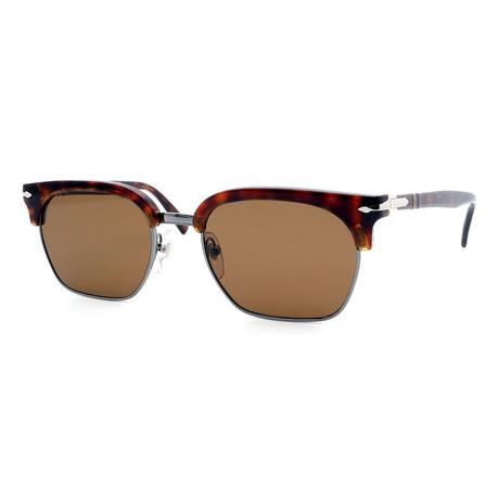 Persol // Men's PO3199S-24-57 Polarized Sunglasses // Tortoise + Brown