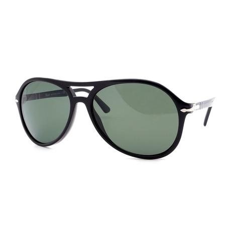 Persol // Men's PO3194S-104158 Double Bridge Polarized Sunglasses // Black