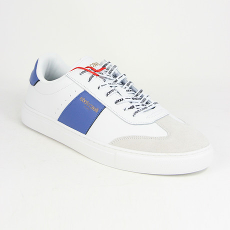 Men's Sport Trainer // White + Royal (Euro: 38)