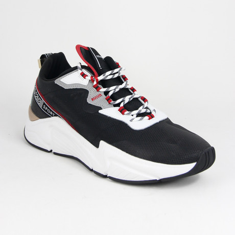 Men's Sport Running Sneaker // Black + White (Euro: 38)
