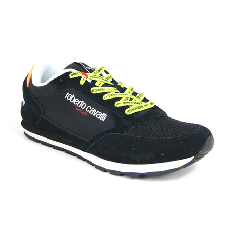 Men's Sport Running Sneaker // Black + Yellow (Euro: 38)