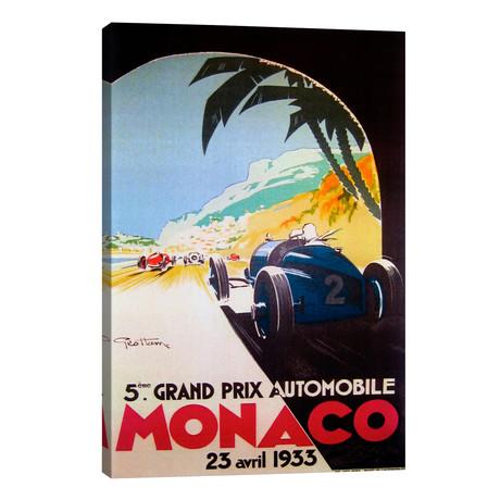 """Grandprix Automobile Monaco 1933 // Vintage Apple Collection (18""""W x 26""""H x 1.5""""D)"""