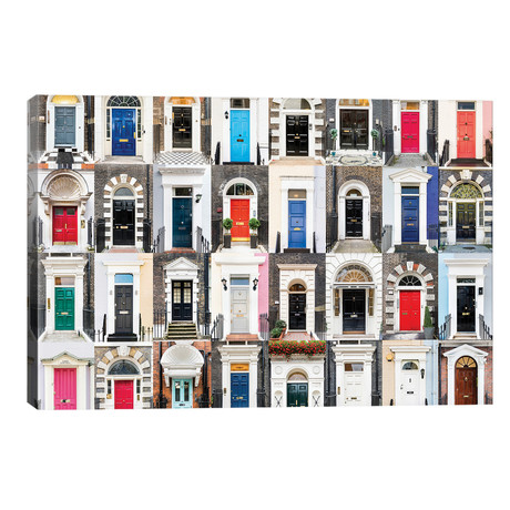 """Doors of the World - England // Andre Vicente Goncalves (40""""W x 26""""H x 1.5""""D)"""