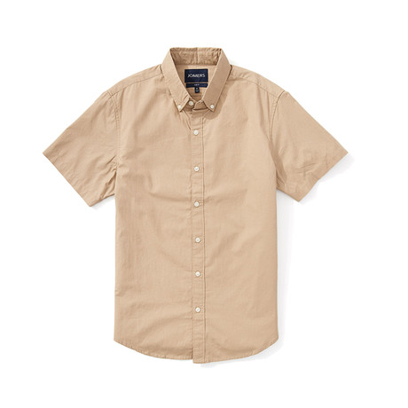Poplin Short Sleeve Shirt // Khaki (S)