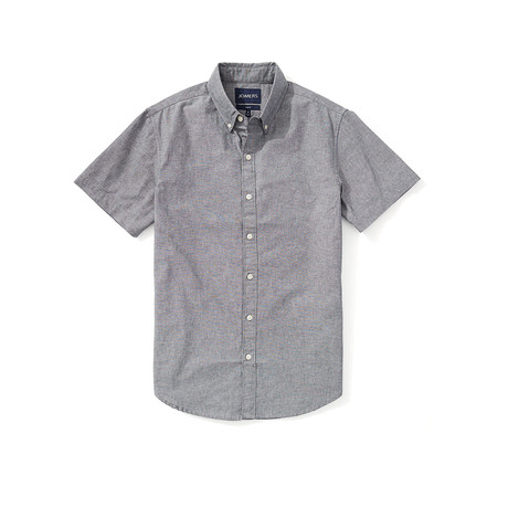 Chambray Short Sleeve Shirt // Gray (S)