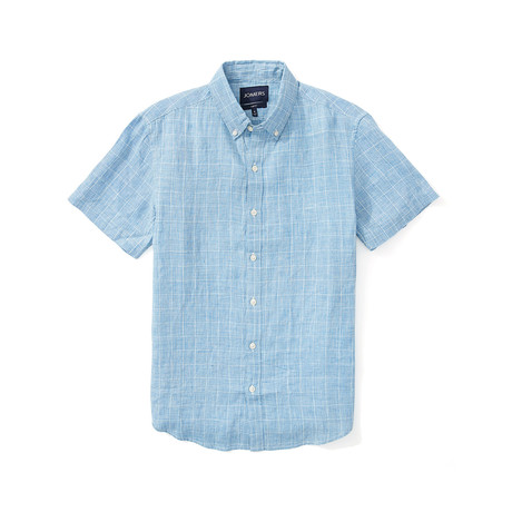 Short Sleeve Shirt // Blue Plaid (S)