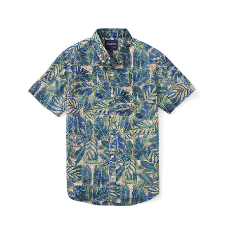 Short Sleeve Shirt // Elba Leaf (S)