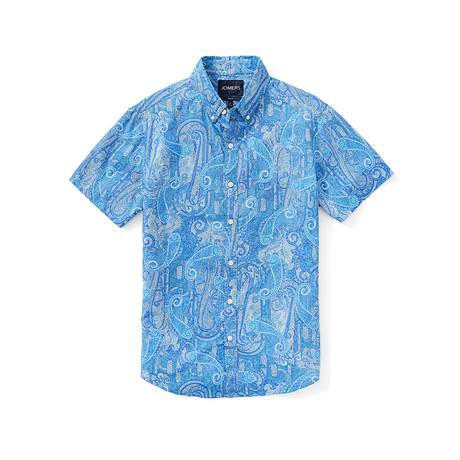 Short Sleeve Shirt // Bari Azure (S)
