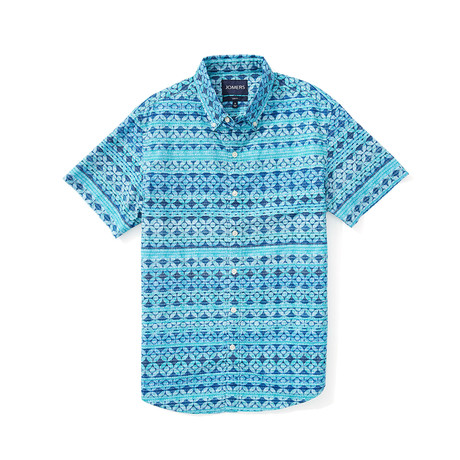 Short Sleeve Shirt // Como Aqua (S)