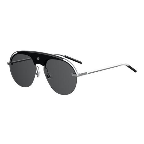 Men's Aviator Sunglasses // Black + Gray