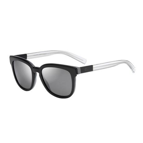 Men's Black Tie Wayfarer Sunglasses // Black + Gray