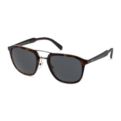 Prada // Men's Square Aviator Sunglasses // Tortoise + Gray