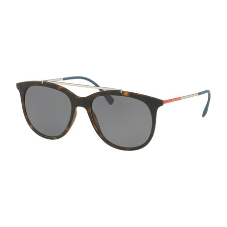 Prada // Men's Aviator Sunglasses // Tortoise + Silver + Gray