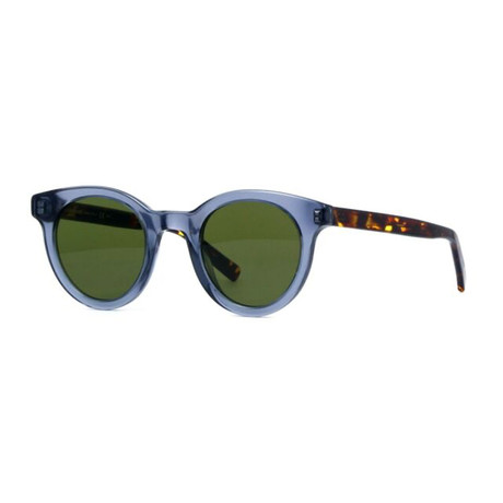 Dior // Men's Black Tie Classic Round Sunglasses // Dark Ruthenium + Khaki + Blue Mirror