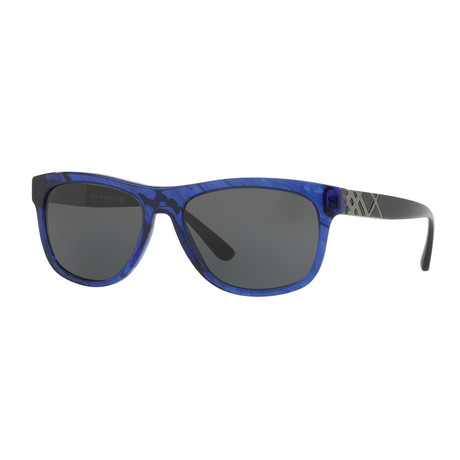 Burberry // Women's Wayfarer Sunglasses // Havana + Blue + Gray