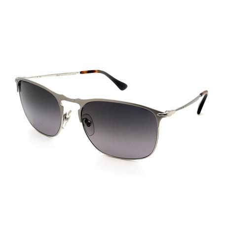 Persol // Men's PO7359S-1068M3 Polarized Sunglasses // Matte Silver + Gray