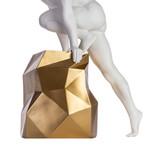 Sensuality Man Sculpture // Matte White + Gold