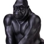 Gorilla Sculpture // Matte Black