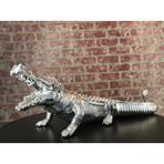 Crocodile Sculpture // Chrome