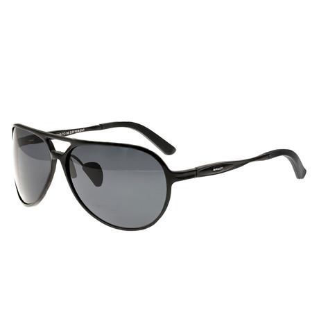 Earhart Polarized Sunglasses // Gunmetal Frame + Blue Green Lens (Black Frame + Black Lens)