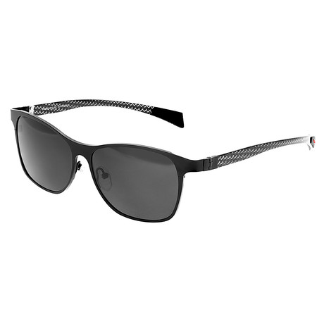 Templar Polarized Sunglasses // Titanium (Black Frame + Black Lens)