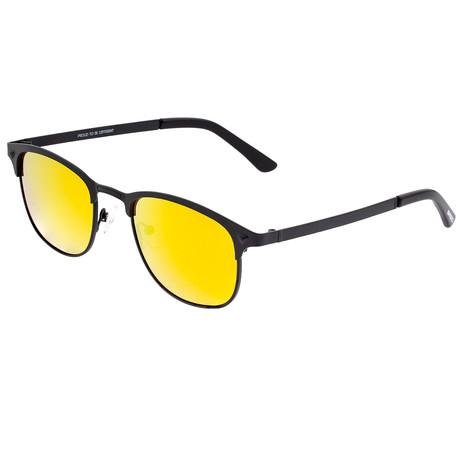 Phase Polarized Sunglasses // Black Frame + Orange-Yellow Lens