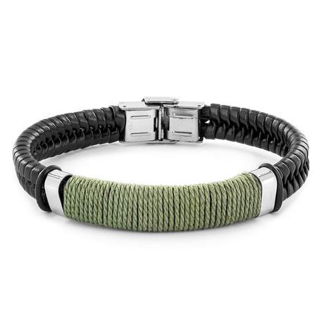 Wrapped Twine Bracelet // Set of 2 (Black)