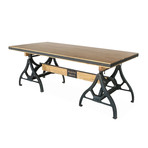 Industrial Sawhorse Dining Table or Executive Desk // Natural Wood