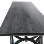 Industrial Sawhorse Dining Table or Executive Desk // Gray